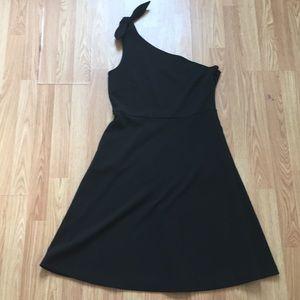 One shoulder black Banana Republic cocktail dress